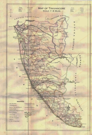 travancore map